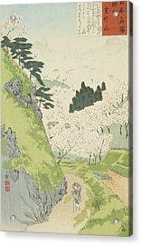 Mount Yoshino, Cherry Blossoms Acrylic Print