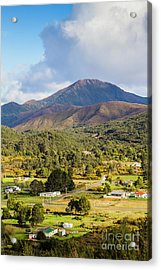 Mount Zeehan Valley Town. West Tasmania Australia Acrylic Print by Jorgo Photography - Wall Art Gallery