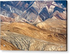 Mountain Abstract 4 Acrylic Print by Hitendra SINKAR