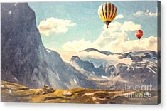 Mountain Air Balloons Acrylic Print