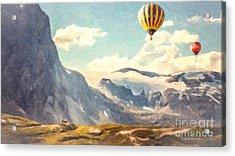 Mountain Air Balloons Acrylic Print