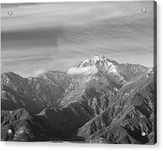 Mountain And Clouds Acrylic Print by Robert Hebert