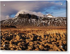 Mountain And Land, Iceland Acrylic Print