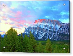 Mountain At Dawn Acrylic Print by Paul Kloschinsky