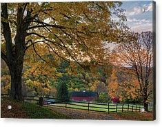 Mountain Barn Acrylic Print by Bill Wakeley