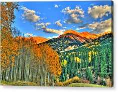 Mountain Beauty Of Fall Acrylic Print by Scott Mahon