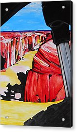Mountain Bike Moab Slickrock Acrylic Print by Susan M Woods