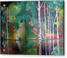 Acrylic Print featuring the painting Mountain Birch by Gary Smith
