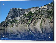 Acrylic Print featuring the photograph Mountain Blue by Laddie Halupa