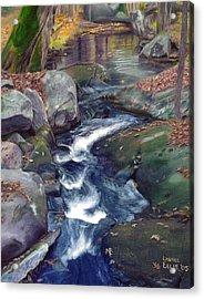 Mountain Brook Iv Acrylic Print by Laurel Ellis