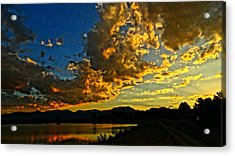 Acrylic Print featuring the photograph Mountain Colour by Eric Dee