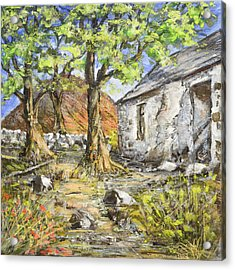 Mountain Cottage Acrylic Print