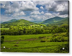 Mountain Field Of Greens Acrylic Print