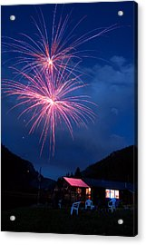 Mountain Fireworks Landscape Acrylic Print by James BO  Insogna