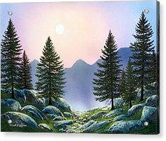 Mountain Firs Acrylic Print by Frank Wilson