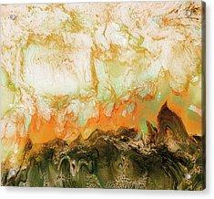 Mountain Flames II Acrylic Print by Paul Tokarski