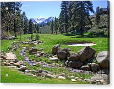 Mountain Golf Course Acrylic Print by Thomas Marchessault