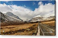 Mountain Highway Snowdonia Acrylic Print
