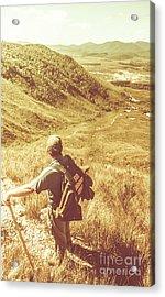 Mountain Hiking Australia Acrylic Print