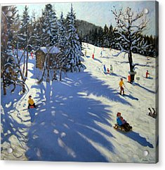 Mountain Hut Acrylic Print by Andrew Macara