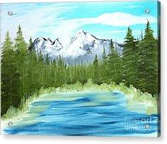 Mountain Imagining Acrylic Print