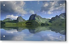 Mountain Lake Acrylic Print by Bruno Santoro