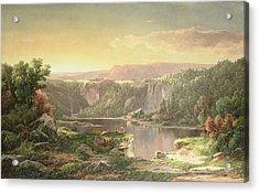 Mountain Lake Near Piedmont Acrylic Print by William Sonntag