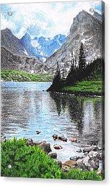 Mountain Lake Acrylic Print by Nils Beasley