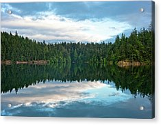 Mountain Lake Reflection Acrylic Print