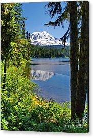 Mountain Lake Reflections Acrylic Print