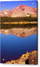 Acrylic Print featuring the photograph Mountain Lake Reflections by John De Bord