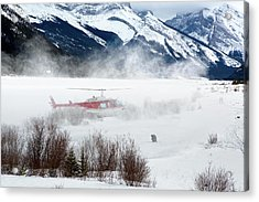 Acrylic Print featuring the photograph Mountain Landing by David Buhler