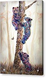Mountain Living 1 Acrylic Print by Teshia Art