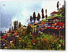 Mountain Living Impasto Acrylic Print by Steve Harrington