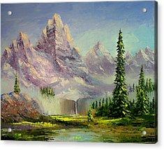 Mountain Majesty Acrylic Print by Lynda McDonald