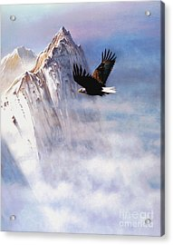 Mountain Majesty Acrylic Print by Robert Foster