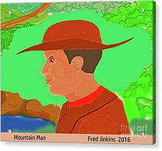 Mountain Man Acrylic Print by Fred Jinkins