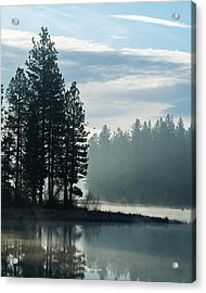 Mountain Meadows Reservoir At Dawn Acrylic Print