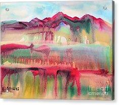 Mountain Mirage Acrylic Print by Teresa Ascone