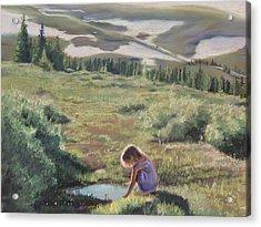 Mountain Mirror Acrylic Print