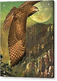 Mountain Of The Hawks Acrylic Print by Wingsdomain Art and Photography