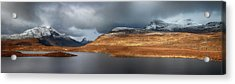 Acrylic Print featuring the photograph Mountain Pano From Knockan Crag by Grant Glendinning
