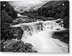 Mountain Paradise In Black And White Acrylic Print