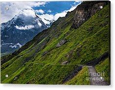 Mountain Path In The Swiss Alps Acrylic Print