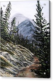 Acrylic Print featuring the painting Mountain Pathway by Patricia L Davidson