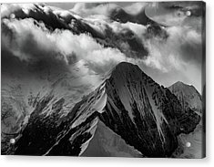 Mountain Peak In Black And White Acrylic Print by Rick Berk