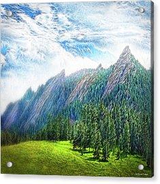 Mountain Pine Meadow Acrylic Print