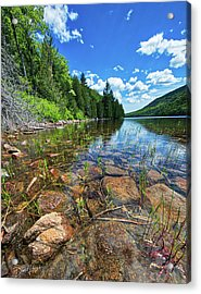 Acrylic Print featuring the photograph Mountain Pond by David A Lane