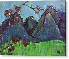Copper Mountain Pose Acrylic Print