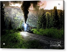 Acrylic Print featuring the photograph Mountain Railway - Morning Whistle by Robert Frederick